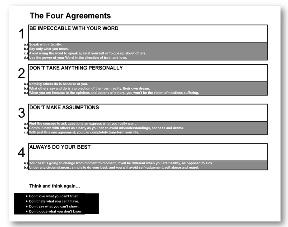 The Four Agreements...